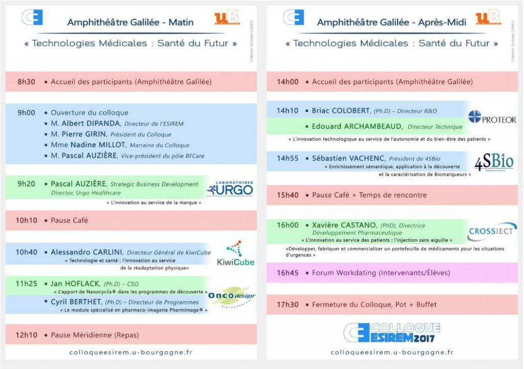 Programme du colloque ESIREM 2017
